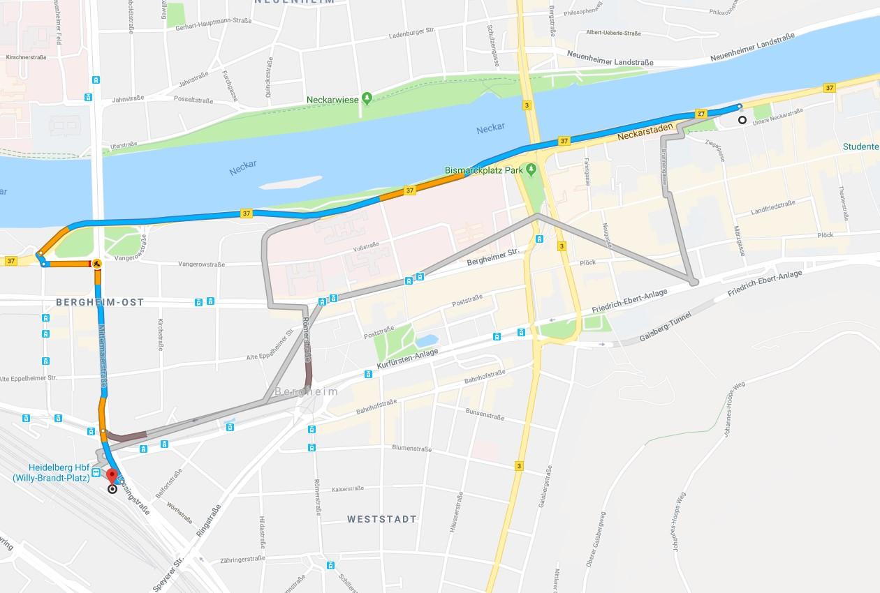 map ibis hotel heidelberg