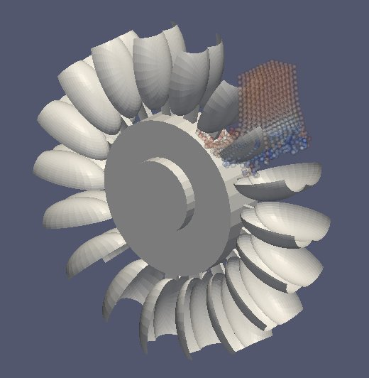 Simulation einer Turbine