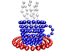 Eine mit ESPResSo enstandene Simulation auf dem Cover des Journals Nature