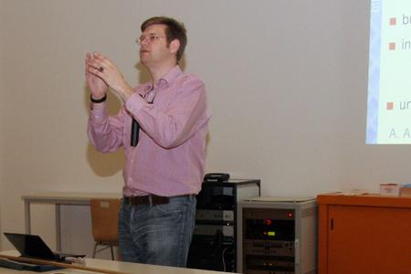 Jun.-Prof. Axel Arnold hielt am 19. Juni 2012 im Hörsaal 57.01 der Universität Stuttgart seine Antrittsvorlesung.