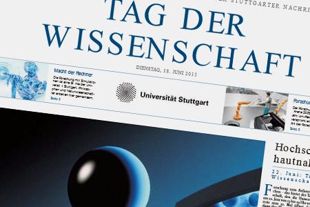 In der Sonderausgabe zum Tag der Wissenschaft (Stuttgarter Zeitung) wird eine Arbeit aus dem SFB 716 vorgestellt. Im Fokus steht die Entwicklung eines neuen Verfahrens zur Erbgutanalyse.