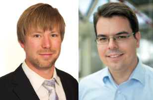 Die Preisträger des SFB 716-Doktorandenpreises 2016: Dr. Stefan Kesselheim, Dr. Michael Krone