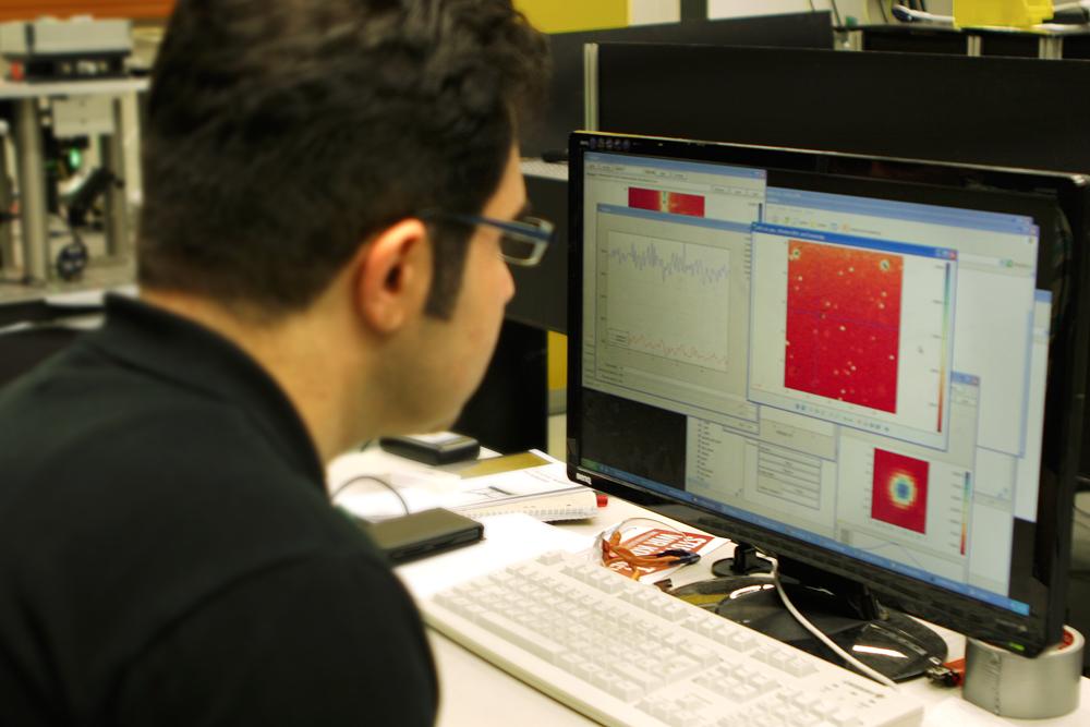 Bild 4: Dadurch können die Forscher die exakte Position des erzeugten Defektes ermitteln.
