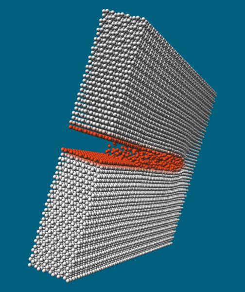 Risssimulation von Aluminiumoxid.