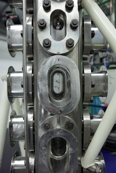 Hochdruck-Blasensäule im Technikumsmaßstab.